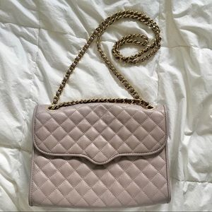 Rebecca Minkoff Love quilted bag in dove gray